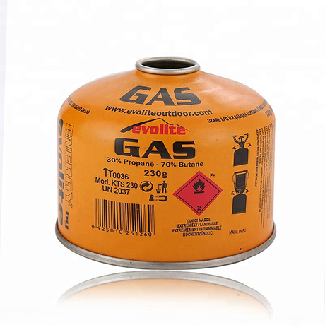 Camping Gas 190g 227g 450g Canister Gas Cartridge with EN417 Threaded Valve for Gas Stove